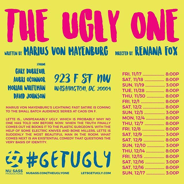 Just three more weeks 'til opening weekend! Discounted tickets are still available! Hurry and grab yours before they are gone! #getugly nusass.com/theuglyone