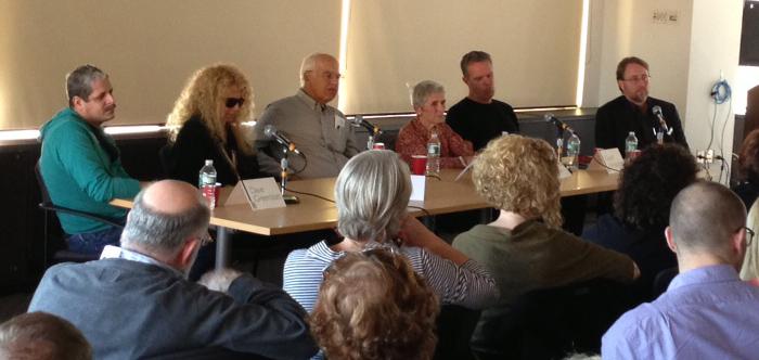 From left: Dave Greenblatt, Bobbi Hamill, Ernst von Metzsch, Constance Kantar, Geoff Hargadon and moderator Nick Capasso