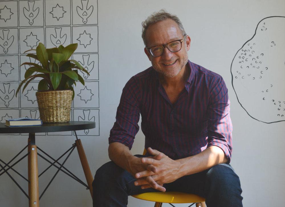 David Baker na The School of Life, em São Paulo. Foto: Clarissa Amorim
