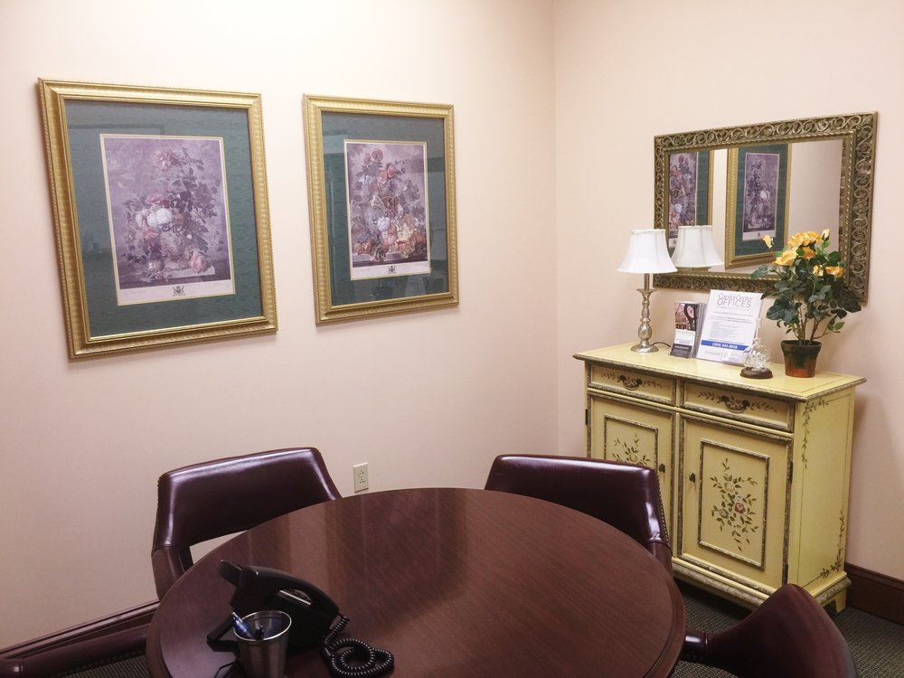 MEETING ROOM— seats up to four