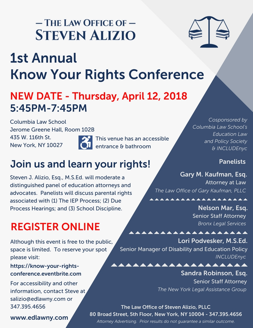 Flyer - 1st annual know your rights conference 2018_Rescheduled.jpg