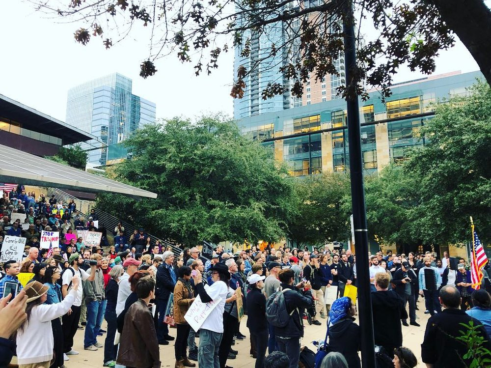 Protect Mueller: Nobody Is Above The Law demonstration in Austin, TX