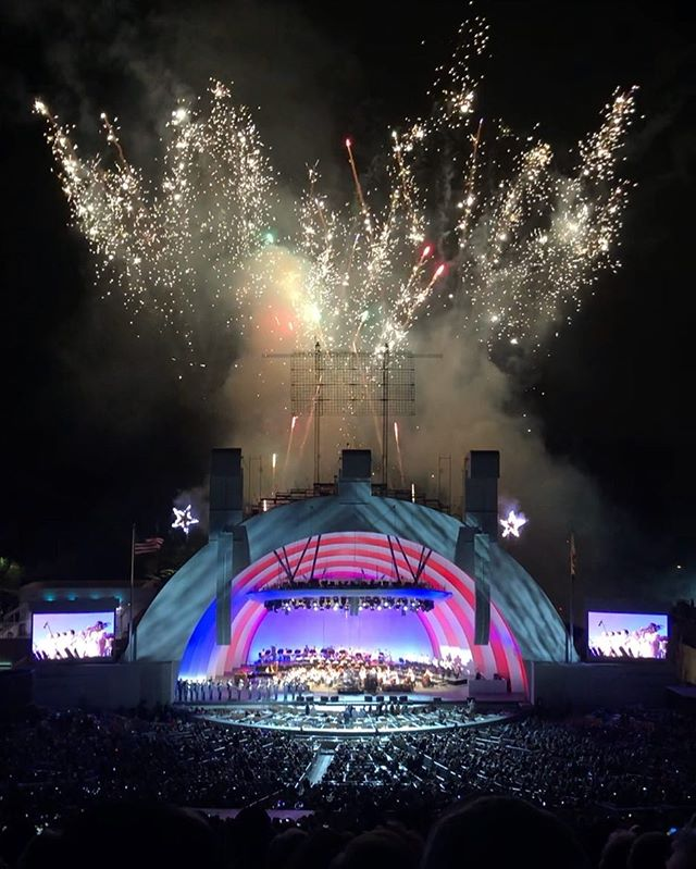 Happy 4th of July!!! Hope it's safe and full of family, good friends and fun! #july4th #hollywoodbowl #losangeles
