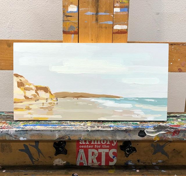 Tiny landscape! From a walk earlier this summer at Torrey Pines...#westcoast #landscape #painting #california #torreypines #figurativeexpressionism #acrylic