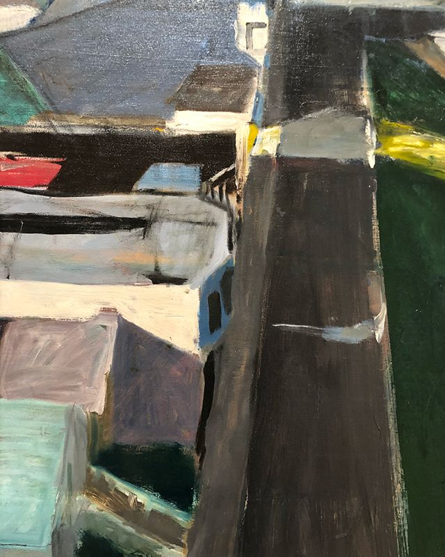 Studying mark making today. Amazing up close. #painterly #california #art #sfmoma #diebenkorn #helenfrankenthaler #agnesmartin #ellsworthkelly #roylichtenstein