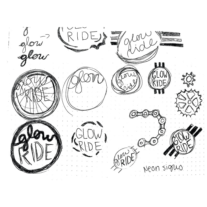 ACS Glow Ride Sketches