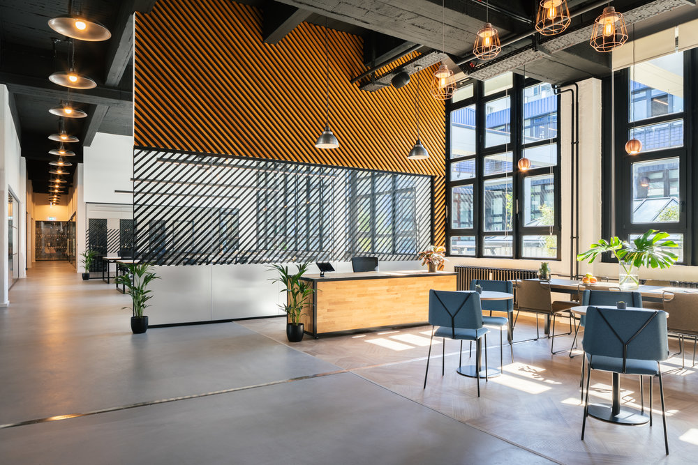 Techspace, Berlin - INTERIORSThe Lobeckstrasse offices are Techspace's latest opening in Berlin, a stunning 10,000 sqft space including terrace space, bathed in natural light.Photography: HEJM