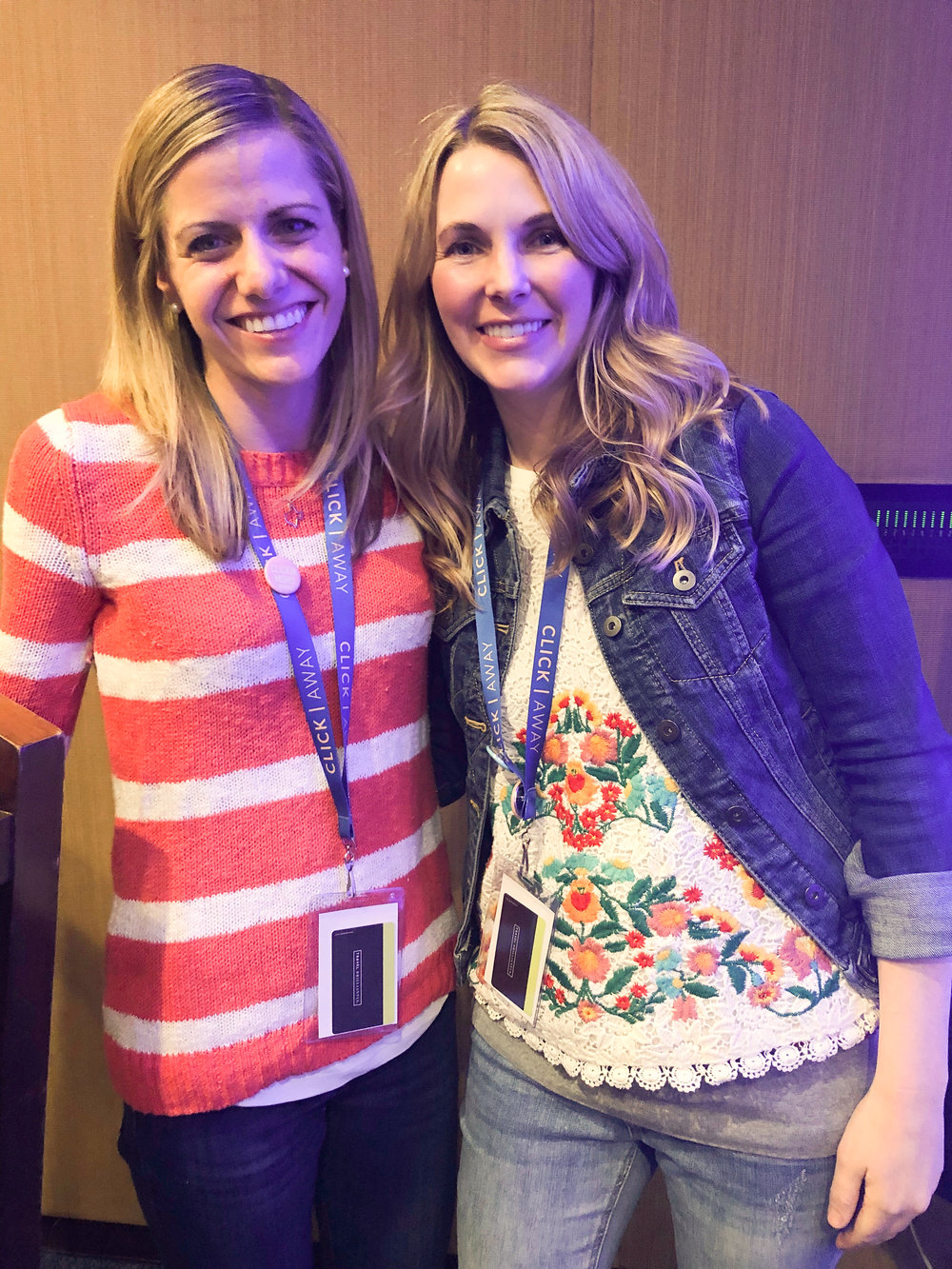 Total fangirl moment: Asking Meg Loeks for a photo after picking her brain about staying visually consistent throughout changing seasons.