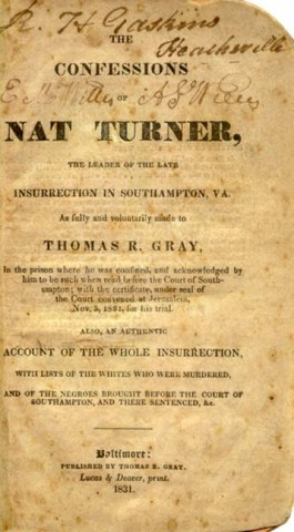 Nat Turner and Unpaid Labor's Spiritual Contribution
