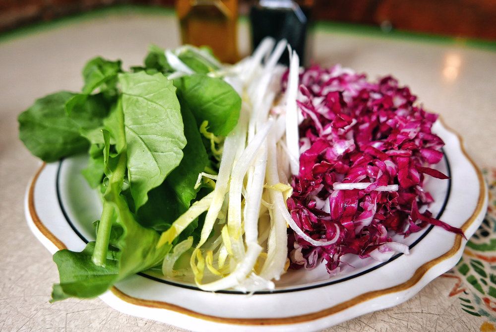 Tri Color Salad, Arugula, Radicchio and Endive