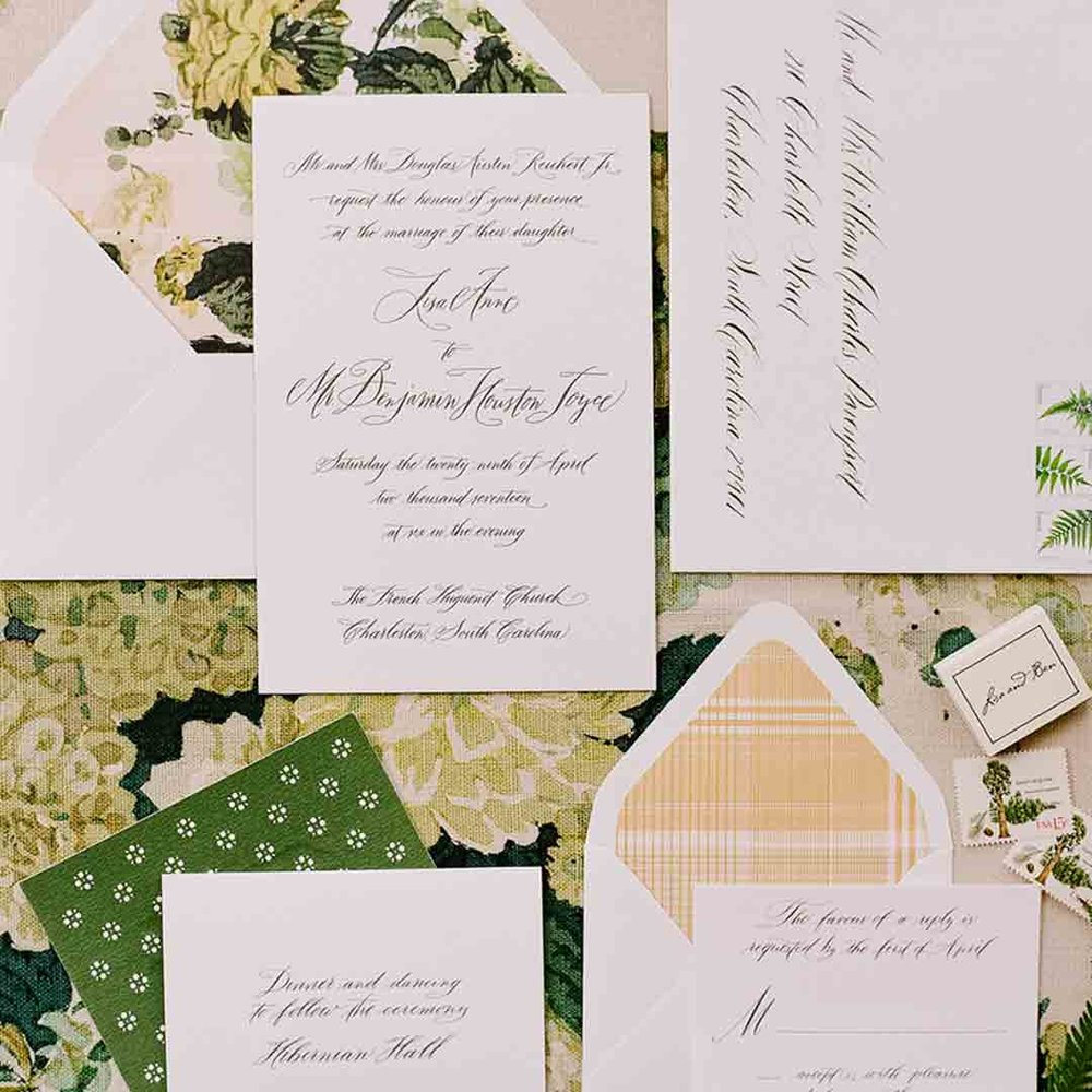 Dulles Designs   Wedding Stationery Suite — Charleston Inside Out ...