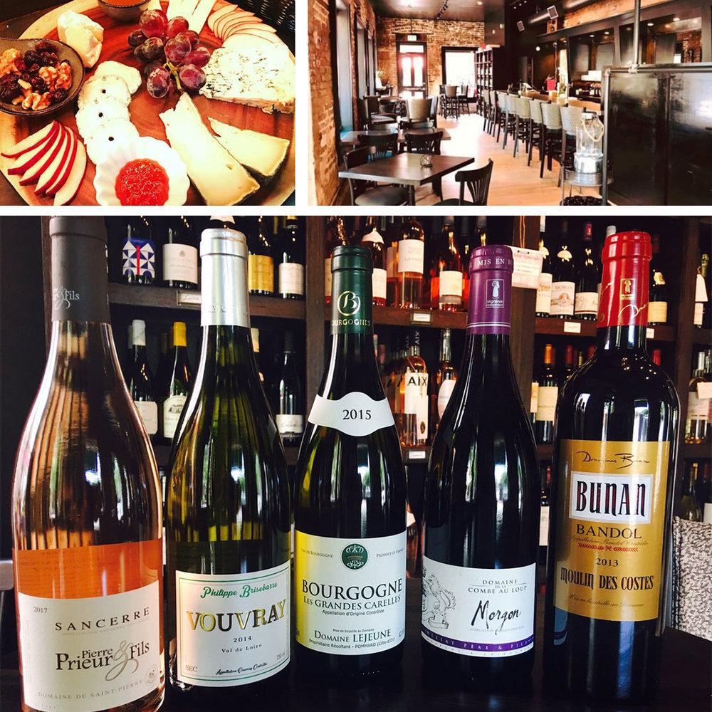 Wine Tasting at Bistro A Vin, Charleston, SC. $15 for five tastings.