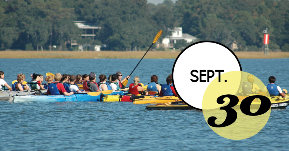 We're paddling out to form a halo around Crab Bank to show our support for this critical seabird nesting island!