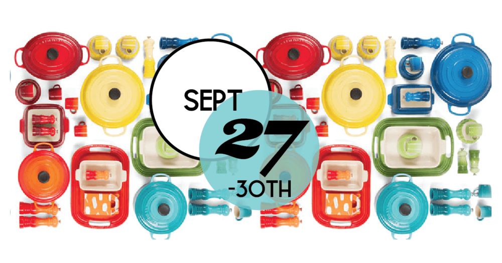 Join us in Charleston, SC for our Factory-to-Table Sales Event. Special Discounts on Le Creuset products. September 27th - 30th.