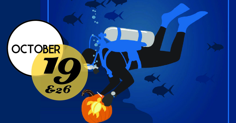 Come to the South Carolina Aquarium's annual Underwater Pumpkin Carving contest. The unique twist on a Halloween tradition takes place in the Aquarium's Great Ocean Tank.