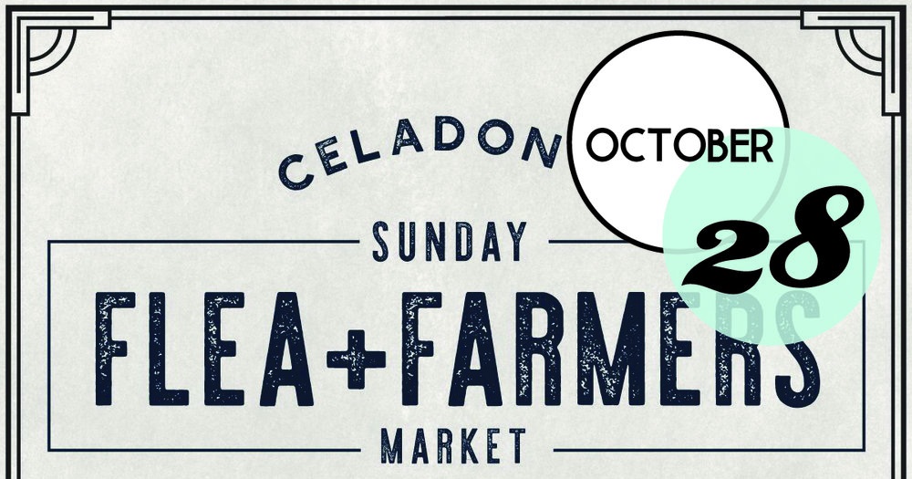 October Flea & Farmers Market at Celadon Warehouse is back. JOIN US for our October market Sunday, October 28th 10am-2pm at the Celadon Warehouse in North Charleston (2221 Noisette Blvd)!