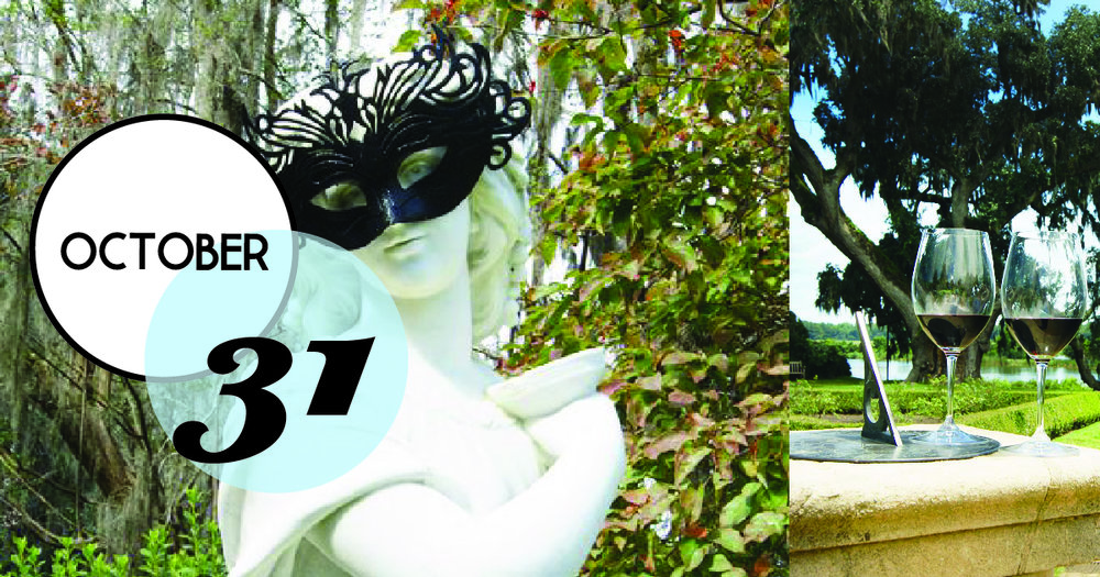 Masquerade Stroll! Sip and stroll in a different Garden a Middleton Place while sampling old and new world wines.
