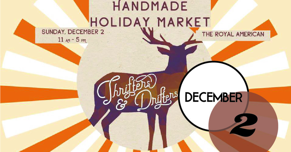 All your favorite Charleston makers and shakers in one place, The Royal American, for the December edition of Thrifters + Drifters. Shop from local artisans, makers and vintage collectors.