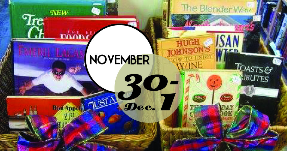 Shop the Charleston Friends of the Library Holiday Book Sale. It's the best bargain in town!