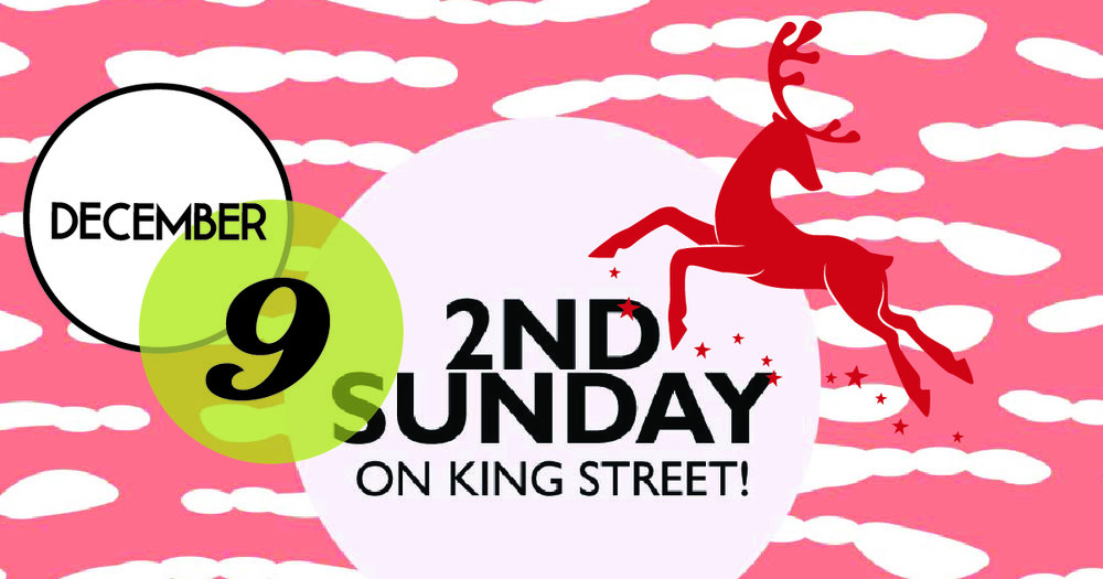Last 2nd Sunday of 2018. Shopping and socializing from 1-5 PM on King Street, downtown Charleston.