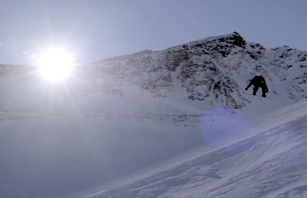 Filming in Pitztal in Austria with Pierre Vaultier.