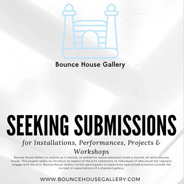 Submit to Bounce House Gallery! . . . #socialpractice #experimentalart #ncart #bouncehousegallery #contemporaryart