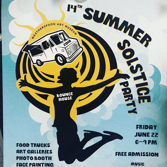Come visit the Bounce House Gallery this Friday at @wamspoon !!!!