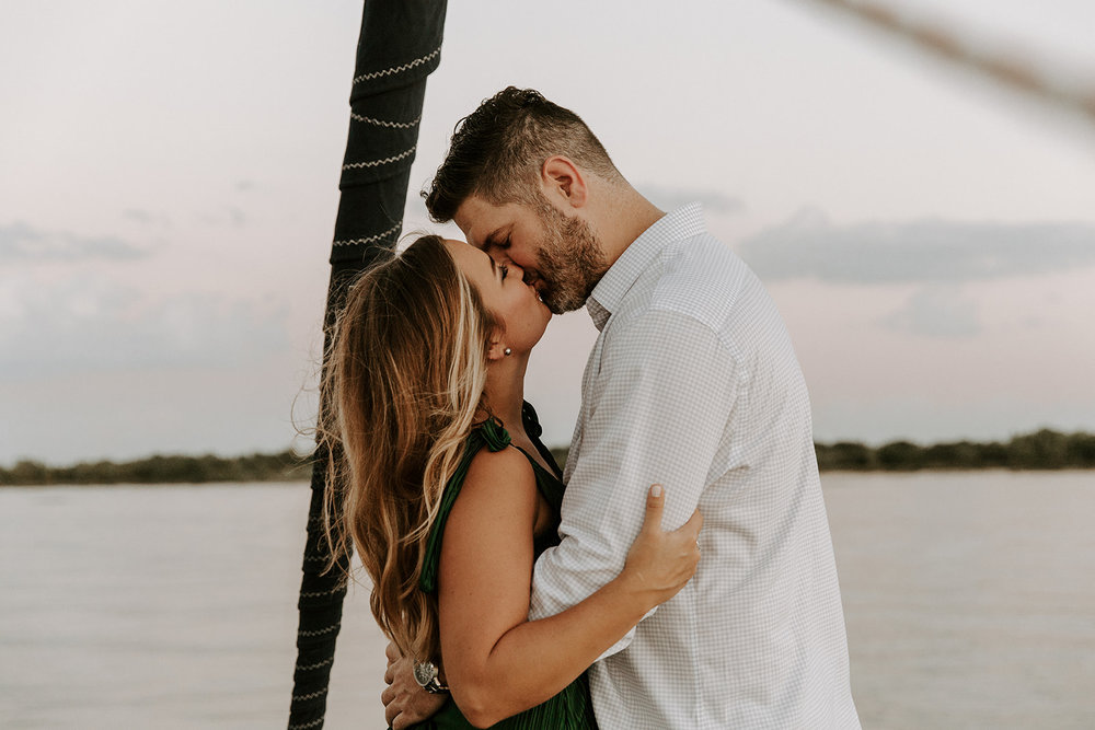 KAYLA + CLINT - COMING SOON! Engagement photo shoot at Lewisville Lake with Thompson Sail Charters // Photography: Madison Katlin