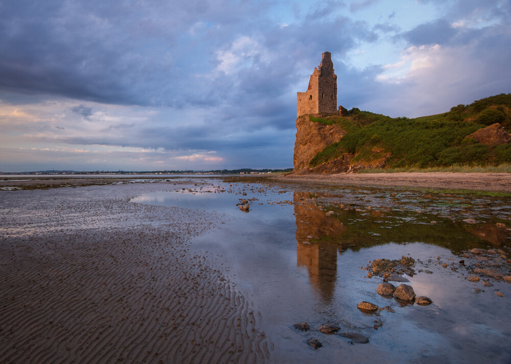 'Troubled Skies over Greenan Castle'