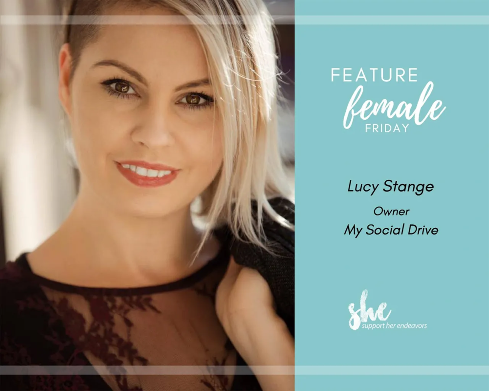 Feature Female Friday for January 18th, 2019 - Today's Feature Female Friday is Lucy Stange!1. Name and Name of your business and role. Where can we find you on social media? Who do you help, or what does your business do?Lucy Stange, Founder, CEO of My Social Drive.I was tired of being taken advantage of and frustrated that there weren't services out there that could come alongside me and help.