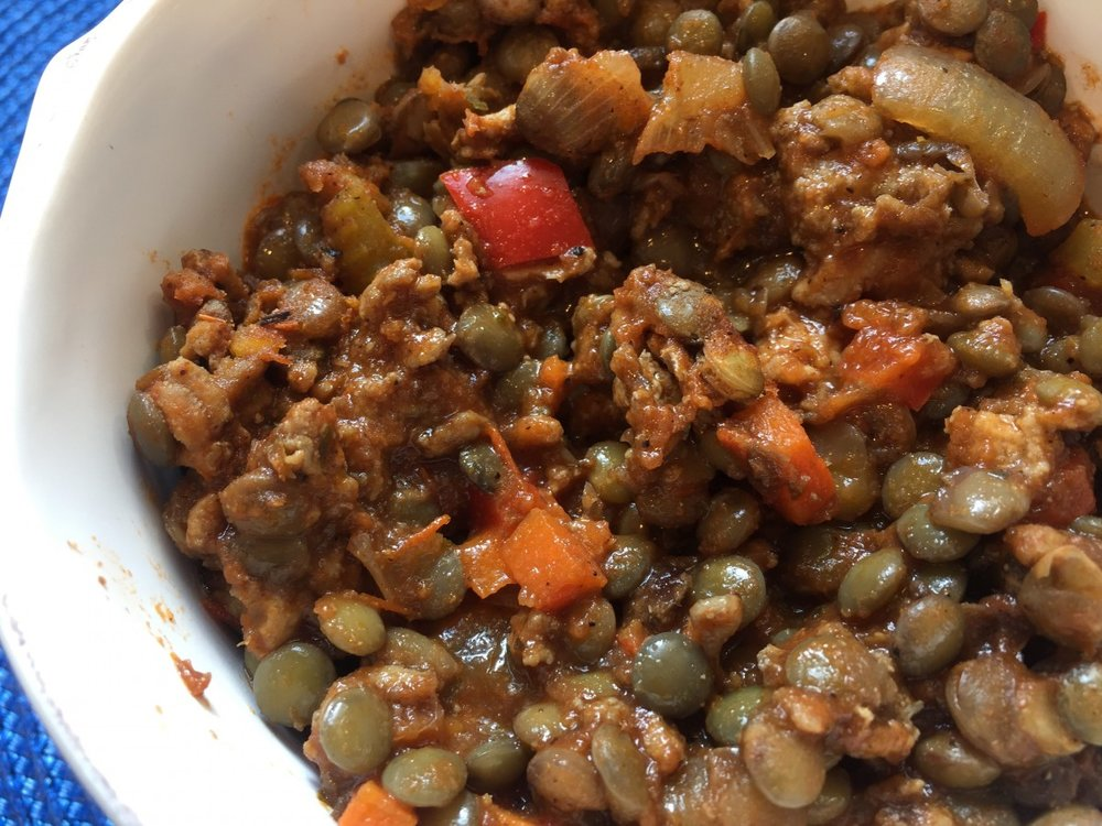 Lamb Chili with a Crunch