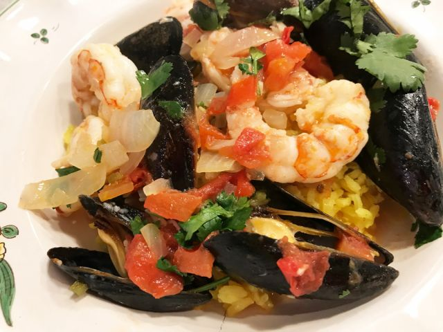 Mexican Shrimp and Mussels