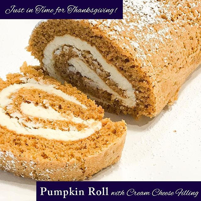 Pumpkin Roll with Cream Cheese Filling - Just in time for Thanksgiving!  A simple, seasonal solution for dessert that takes some of the stress out of the holiday.  Find the recipe by clicking the link in the bio! — Https://www.nosacrifices.com — • • • • • #glutenfree #thanksgiving #thanksgivingdessert #dessert #pumpkin #thanksgivingdinner #nosacrifices #nofilter #fall #fallrecipes #glutenfreerecipes #glutenfreeliving