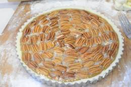 Pecan pie just before baking.