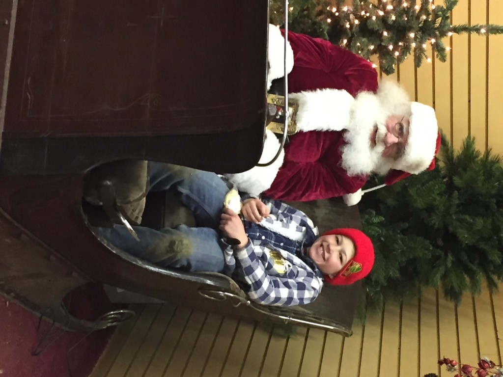 santa at santas christmas tree farm cutchogue new york