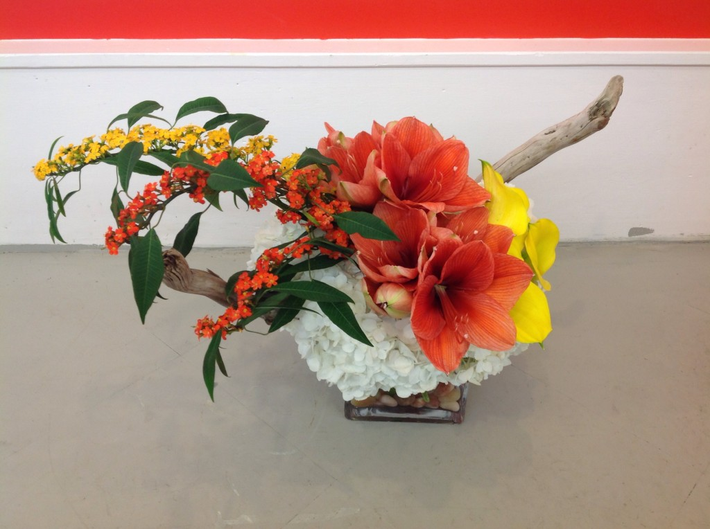 Flower's Edge arrangement by Noa Rotem Cutchogue NY