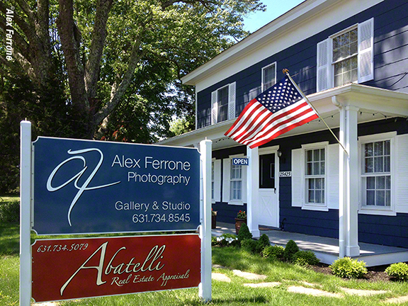 Gallery Front with Flag by Alex Ferrone