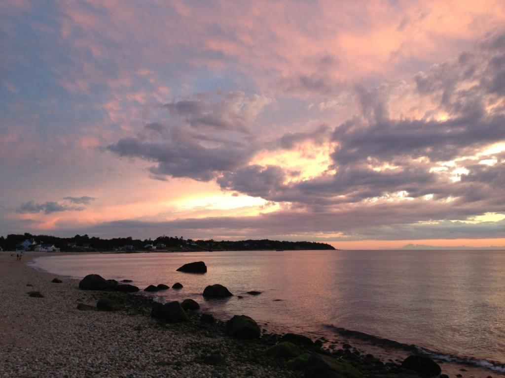 18a Sunset at Shorecrest beach on Long Island SoundIMG_0685