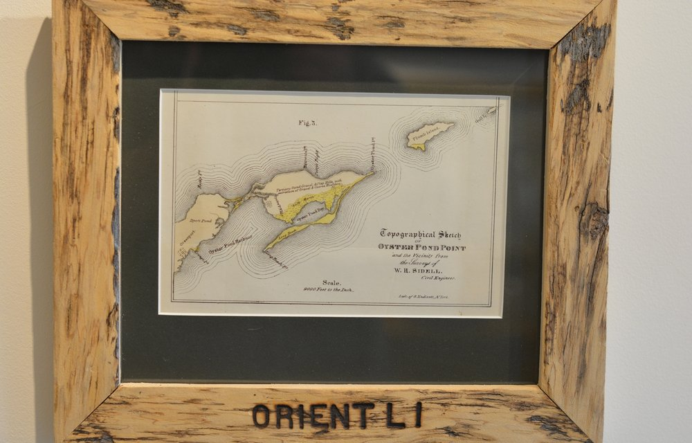Original map of Orient from 1842 - the region was called Oyster Pond Point