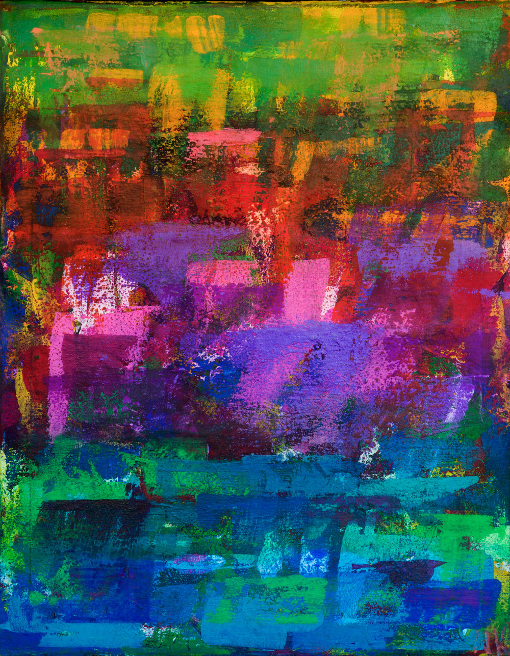 Blue Giraffe, 12x18 Acrylic on Canvas