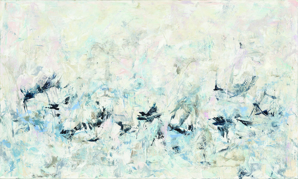 NIKKI VISMARA  Murmuration Acrylic on canvas, 60 x 36 in. $4,000  Available at Barba Contemporary Art 191 S. Indian Canyon Palm Springs, CA 92262 (760) 656-8688 michael@barbagallery.com BarbaContemporaryArt.com