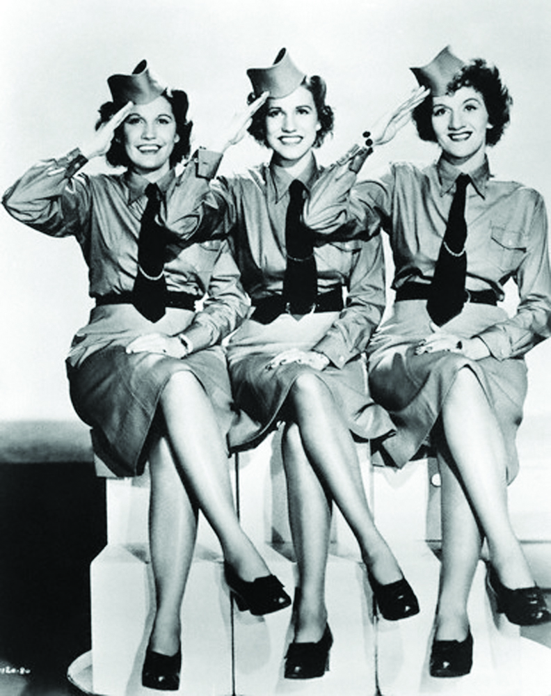 The Andrews Sisters, (l-r) Maxene, Patty, and LaVerne. --- Image by © Michael Ochs Archives/Corbis