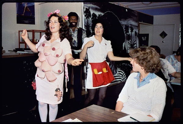 The Waitresses/Coffee Cauldron,   A Restaurant Ritual   , May 17, 1980. Courtesy of LACE. The LACE Records, Getty Research Institute, Los Angeles.