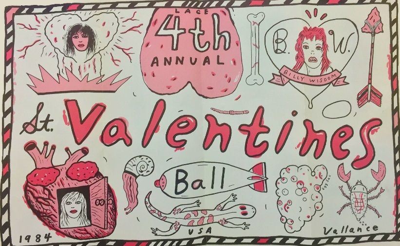 Jeffrey Vallance, LACE 4th Annual St. Valentine's Day Flyer, 1984.