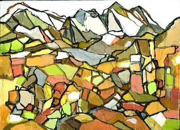 Study for Autumn, acrylic on canvas, 7x5
