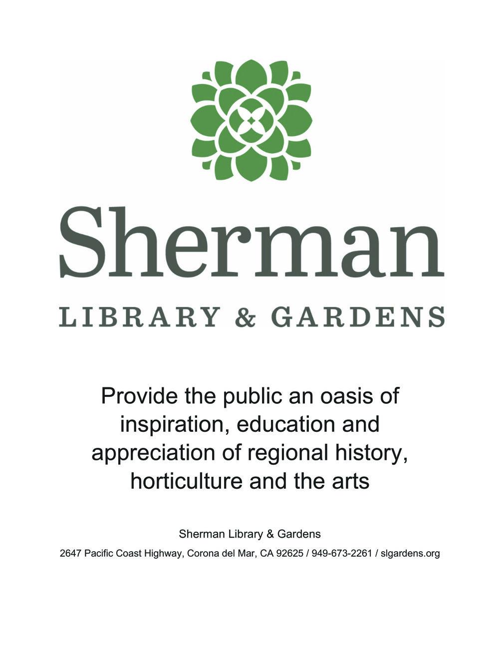 Microsoft Word - Sherman gardens new logo.docx