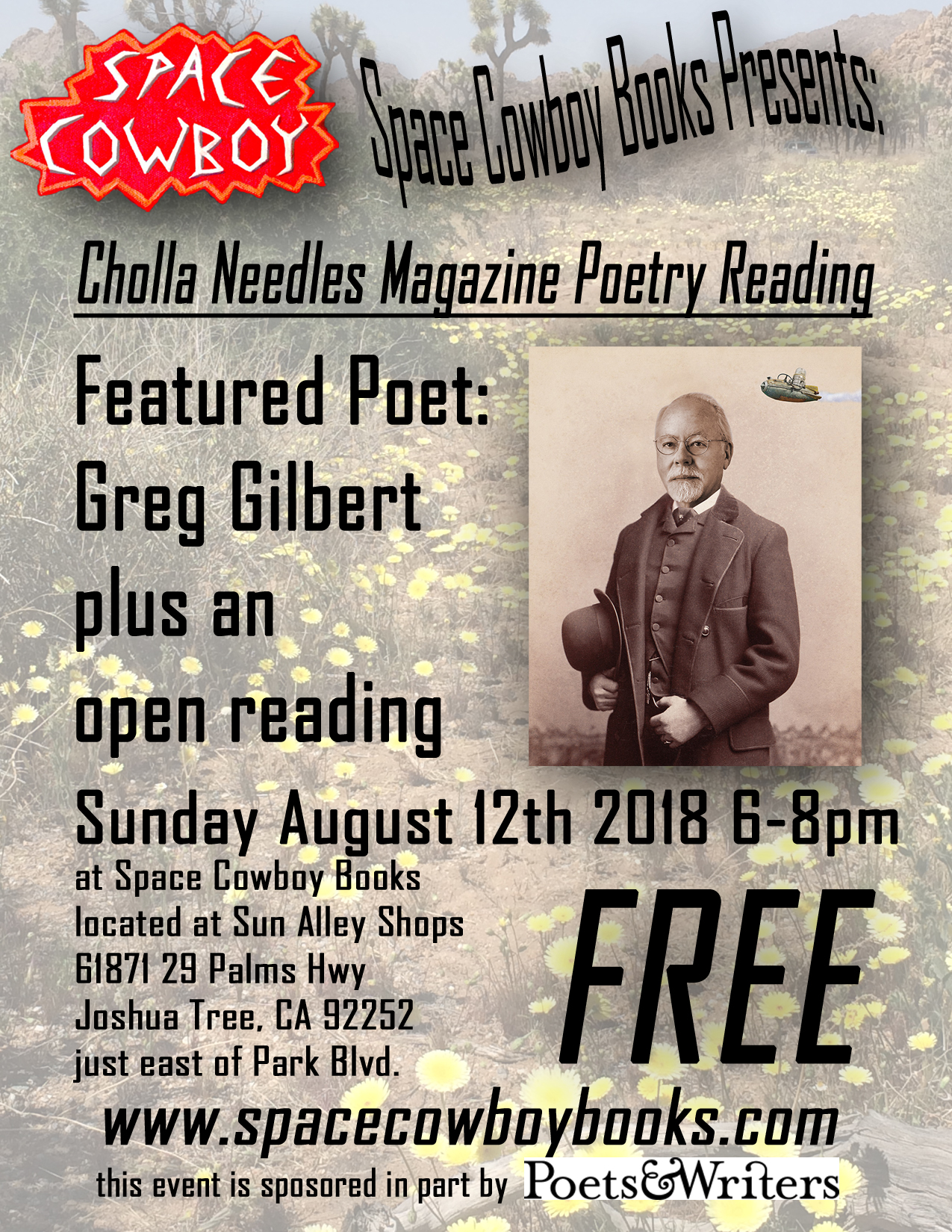 Cholla Needles August Poetry Reading — Art Highlight