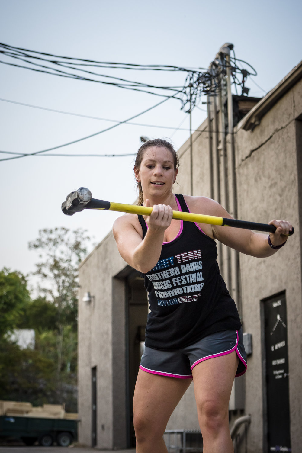 Crossfit Functional Fitness Hammer on Tire Swing