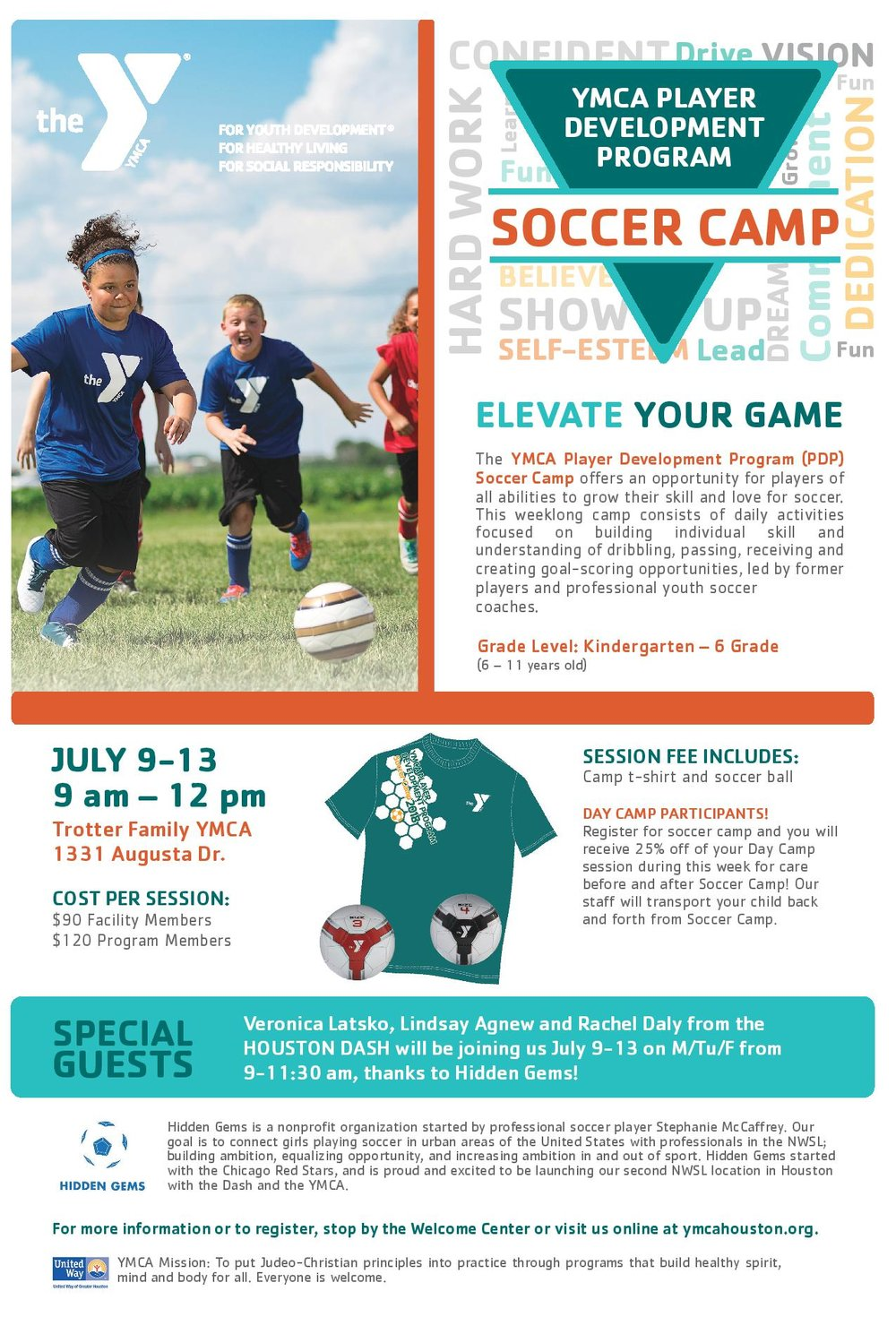 Marketing Flyer for Hidden Gems/ YMCA summer camp collaboration