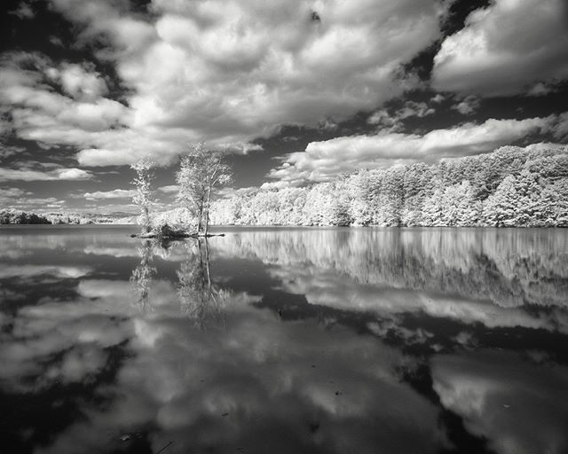Chadwick Lake in Newburgh in infrared.  #newburghny #chadwicklake #infrared #silver